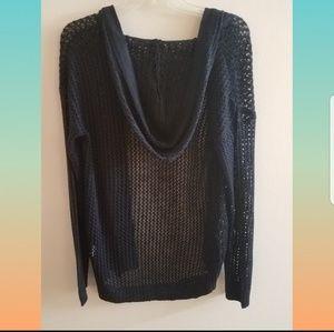 Sweaters - ⚓Nautical Blue Holey Knit Cardigan ⛵